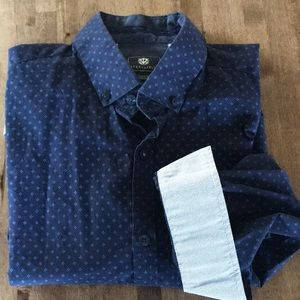 Steel & Jelly Men's Button Down Shirt Blue Large